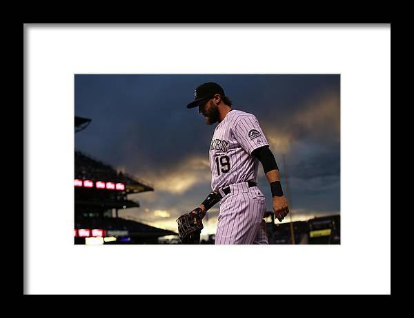 National League Baseball Framed Print featuring the photograph Charlie Blackmon by Doug Pensinger