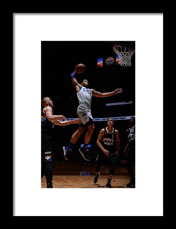 Nba Pro Basketball Framed Print featuring the photograph Charlotte Hornets v Denver Nuggets by Bart Young