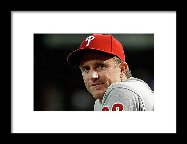 People Framed Print featuring the photograph Chase Utley by Christian Petersen