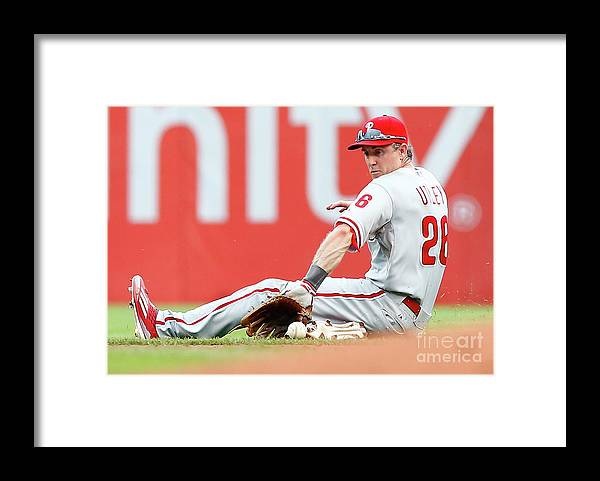 People Framed Print featuring the photograph Chase Utley by Jared Wickerham