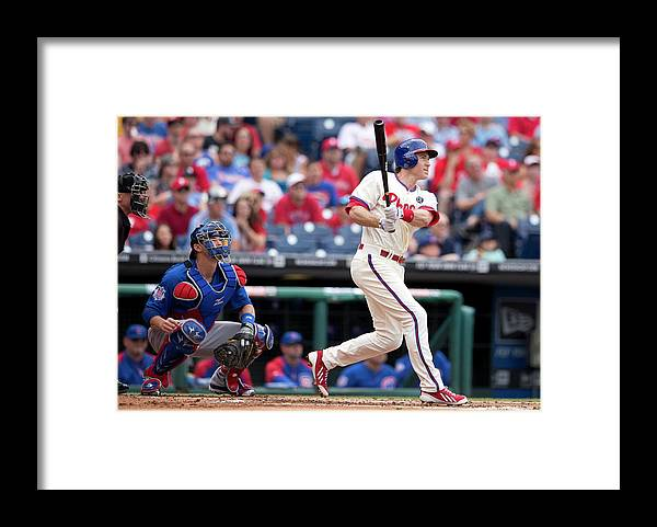 Individual Event Framed Print featuring the photograph Chase Utley by Mitchell Leff