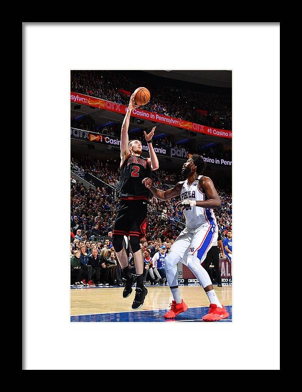 Nba Pro Basketball Framed Print featuring the photograph Chicago Bulls v Philadelphia 76ers by Jesse D. Garrabrant