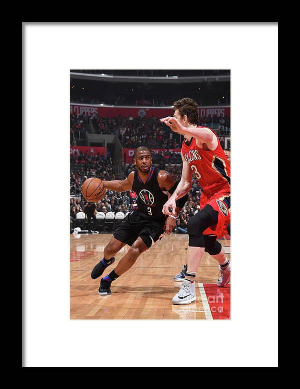 Nba Pro Basketball Framed Print featuring the photograph Chris Paul by Adam Pantozzi