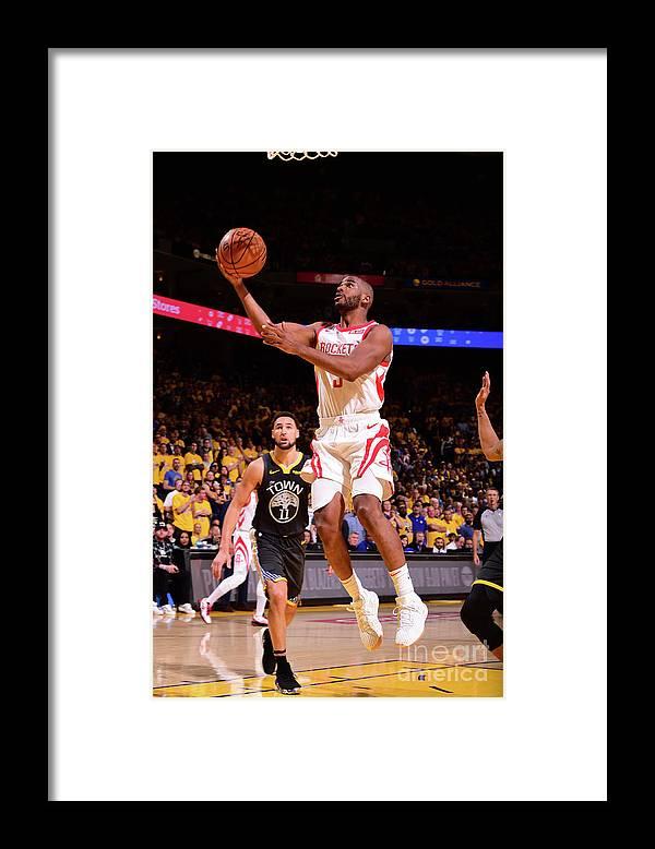 Playoffs Framed Print featuring the photograph Chris Paul by Noah Graham
