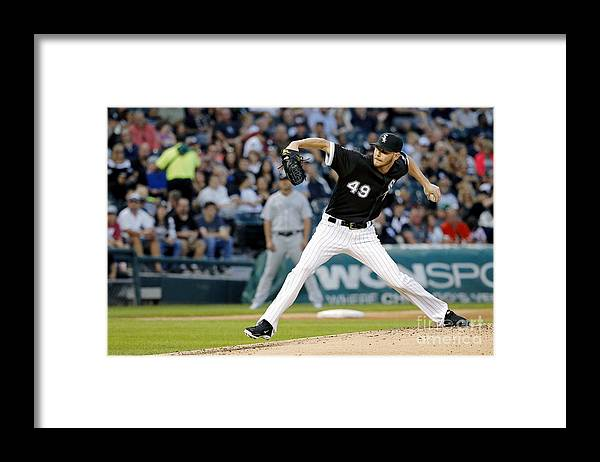Second Inning Framed Print featuring the photograph Chris Sale by Jon Durr