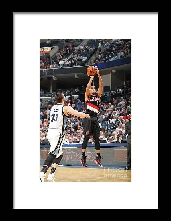 Nba Pro Basketball Framed Print featuring the photograph C.j. Mccollum by Joe Murphy