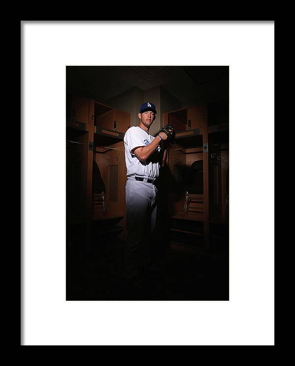 Media Day Framed Print featuring the photograph Clayton Kershaw by Christian Petersen