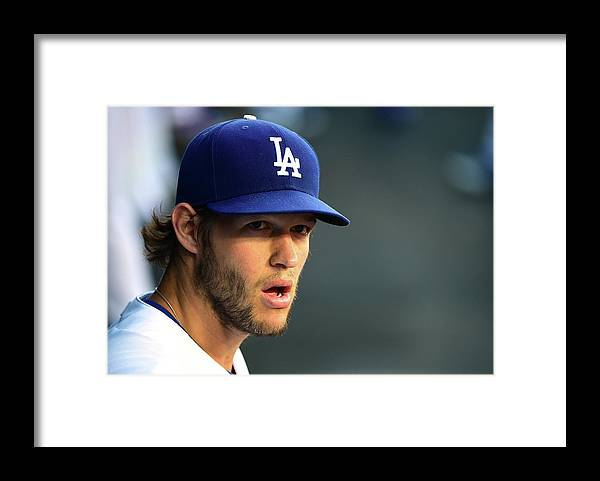 People Framed Print featuring the photograph Clayton Kershaw by Harry How