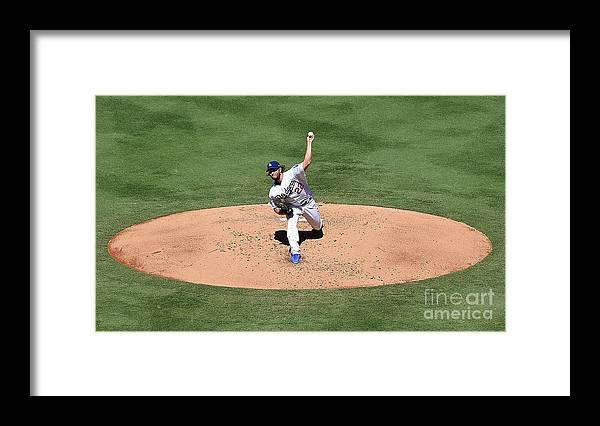 People Framed Print featuring the photograph Clayton Kershaw by Jayne Kamin-oncea