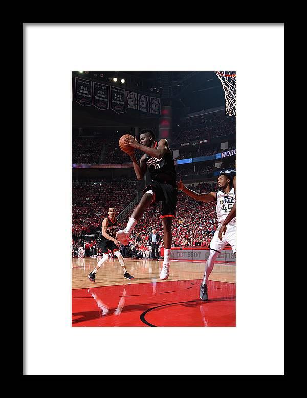 Playoffs Framed Print featuring the photograph Clint Capela by Andrew D. Bernstein