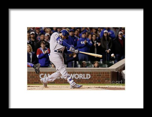Championship Framed Print featuring the photograph Cody Bellinger by Jamie Squire
