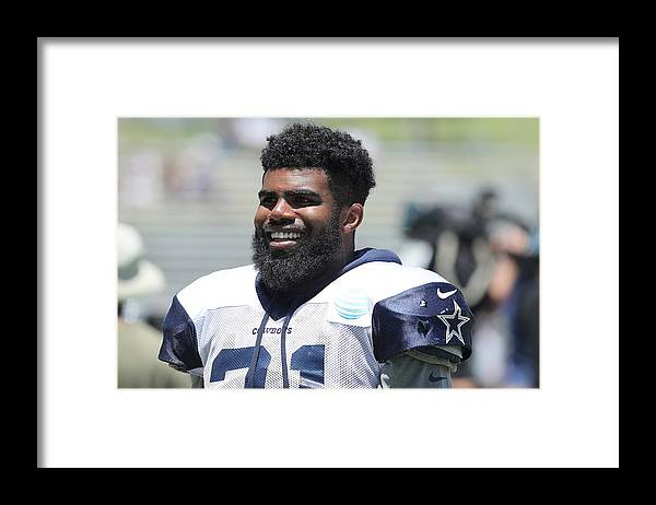 People Framed Print featuring the photograph Dallas Cowboys Training Camp by Josh Lefkowitz