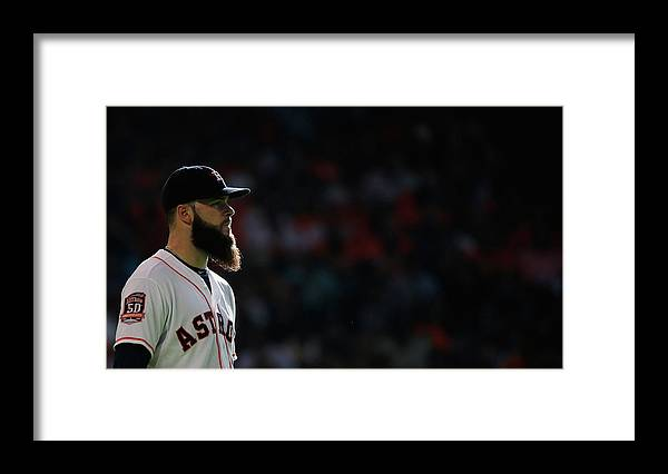 Second Inning Framed Print featuring the photograph Dallas Keuchel by Scott Halleran