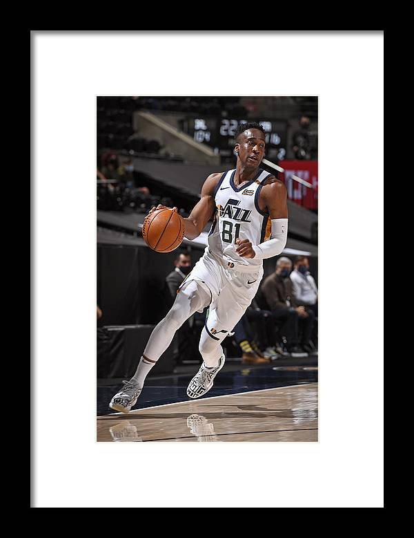 Nba Pro Basketball Framed Print featuring the photograph Dallas Mavericks v Utah Jazz by Garrett Ellwood