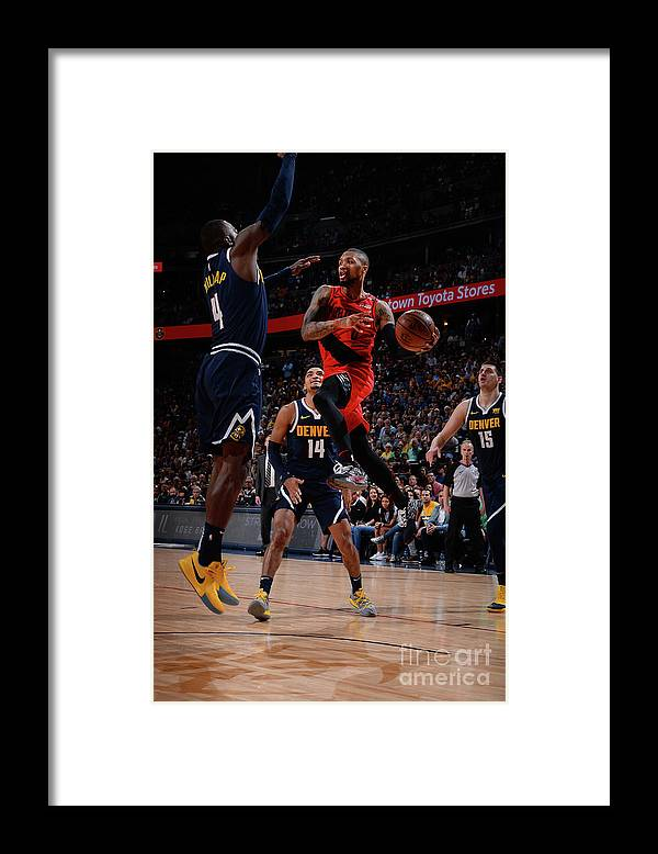 Playoffs Framed Print featuring the photograph Damian Lillard by Bart Young