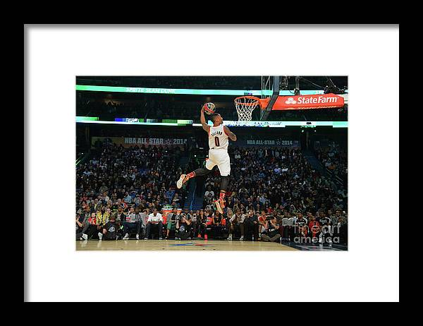 Smoothie King Center Framed Print featuring the photograph Damian Lillard by Jesse D. Garrabrant