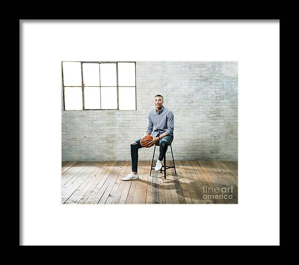 Nba Pro Basketball Framed Print featuring the photograph Dante Exum by Nathaniel S. Butler