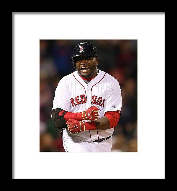 Ninth Inning Framed Print featuring the photograph David Ortiz by Jim Rogash
