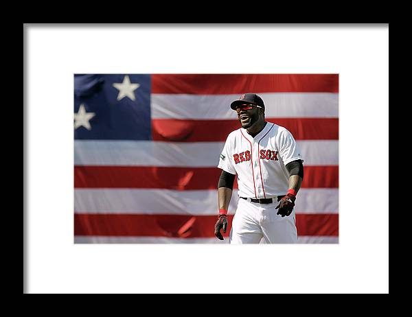 American League Baseball Framed Print featuring the photograph David Ortiz by Winslow Townson
