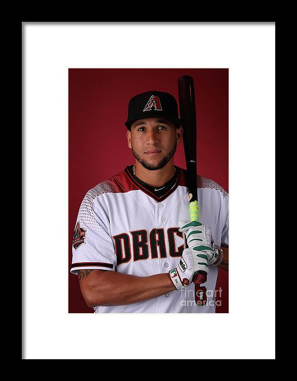 Media Day Framed Print featuring the photograph David Peralta by Christian Petersen
