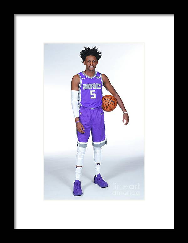 Media Day Framed Print featuring the photograph De'aaron Fox by Rocky Widner