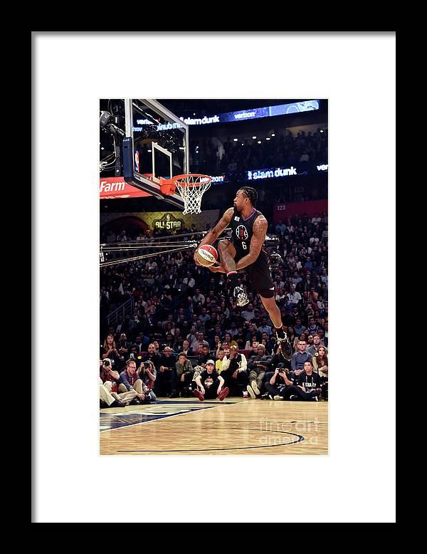 Event Framed Print featuring the photograph Deandre Jordan by Bill Baptist