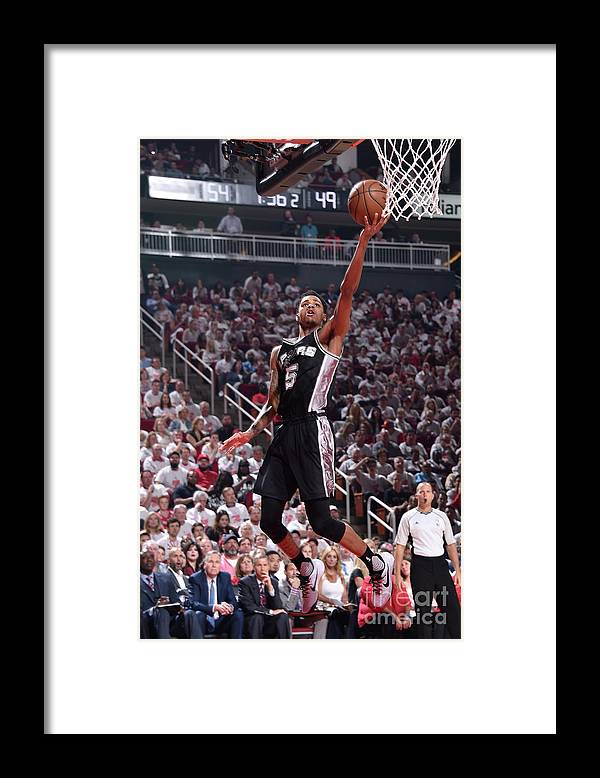 Playoffs Framed Print featuring the photograph Dejounte Murray by Bill Baptist