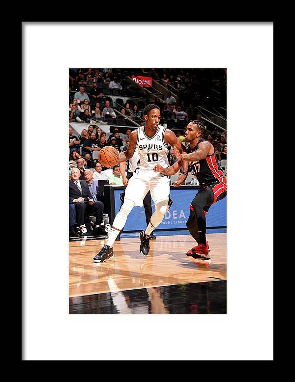 Nba Pro Basketball Framed Print featuring the photograph Demar Derozan by Bill Baptist