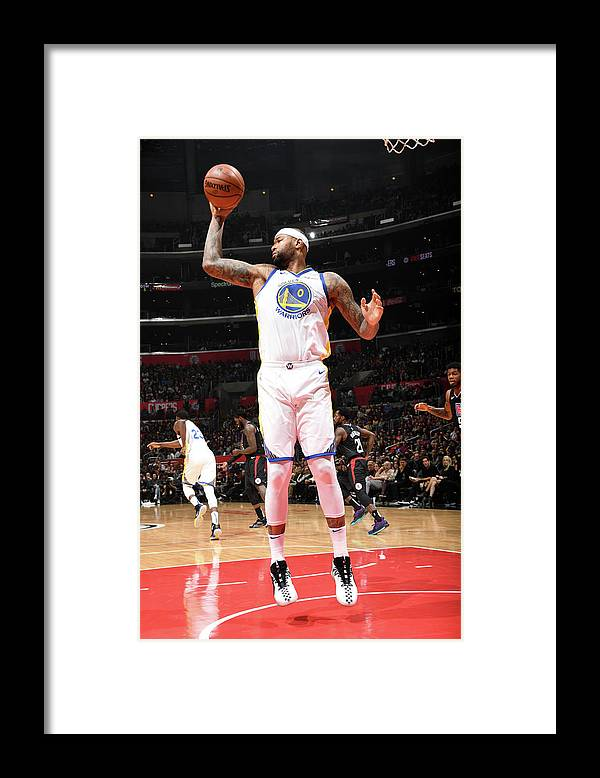 Nba Pro Basketball Framed Print featuring the photograph Demarcus Cousins by Andrew D. Bernstein