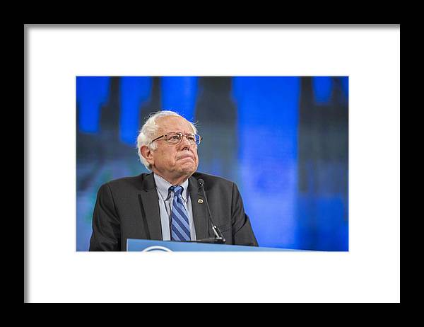 Democracy Framed Print featuring the photograph Democratic Candidates Attend New Hampshire Democratic Party Convention by Scott Eisen