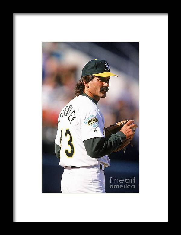 1980-1989 Framed Print featuring the photograph Dennis Eckersley by Ron Vesely