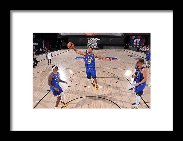 Nba Pro Basketball Framed Print featuring the photograph Denver Nuggets v San Antonio Spurs by David Dow