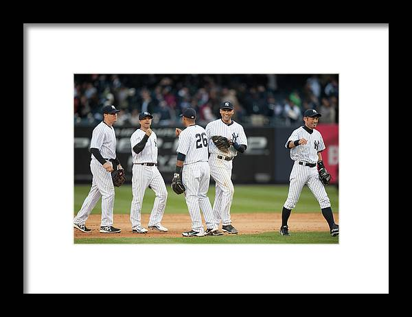 East Framed Print featuring the photograph Derek Jeter by Rob Tringali