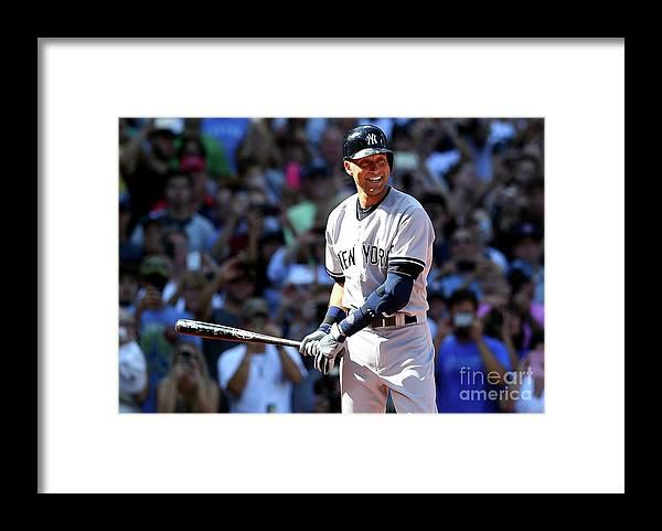 American League Baseball Framed Print featuring the photograph Derek Parks by Elsa