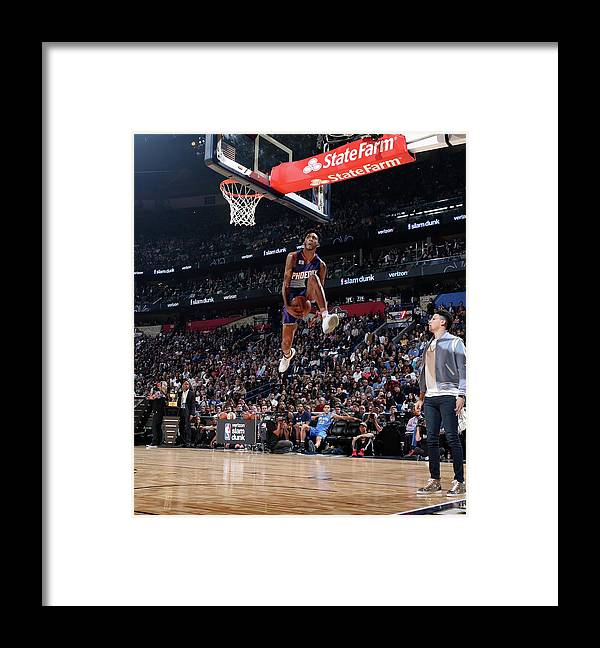 Event Framed Print featuring the photograph Derrick Jones by Nathaniel S. Butler