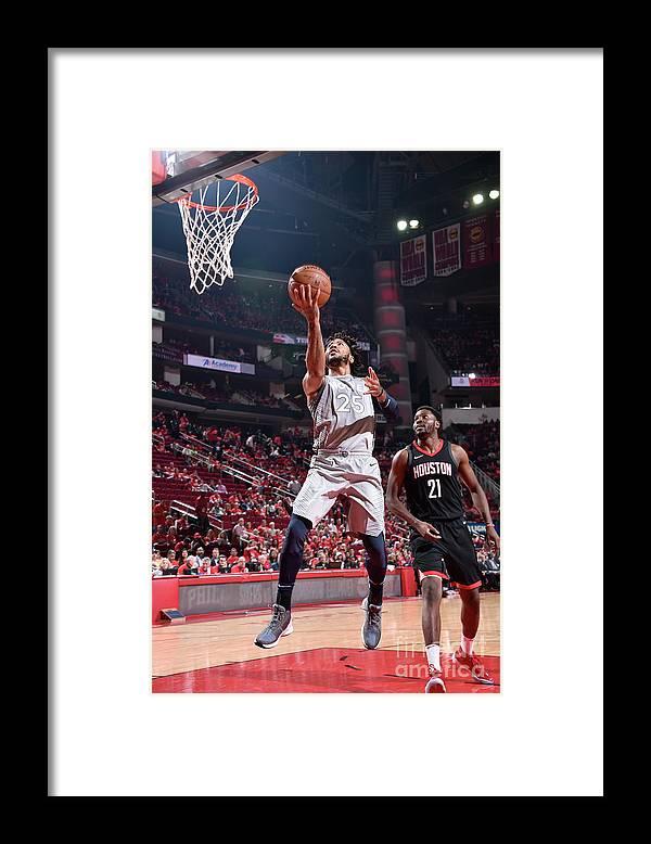 Playoffs Framed Print featuring the photograph Derrick Rose by Bill Baptist