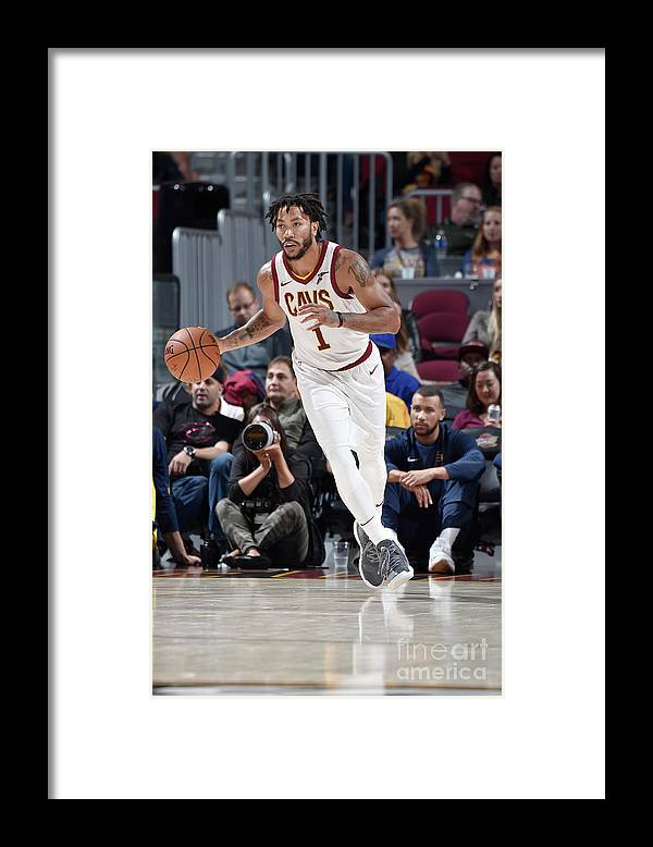 Nba Pro Basketball Framed Print featuring the photograph Derrick Rose by David Liam Kyle
