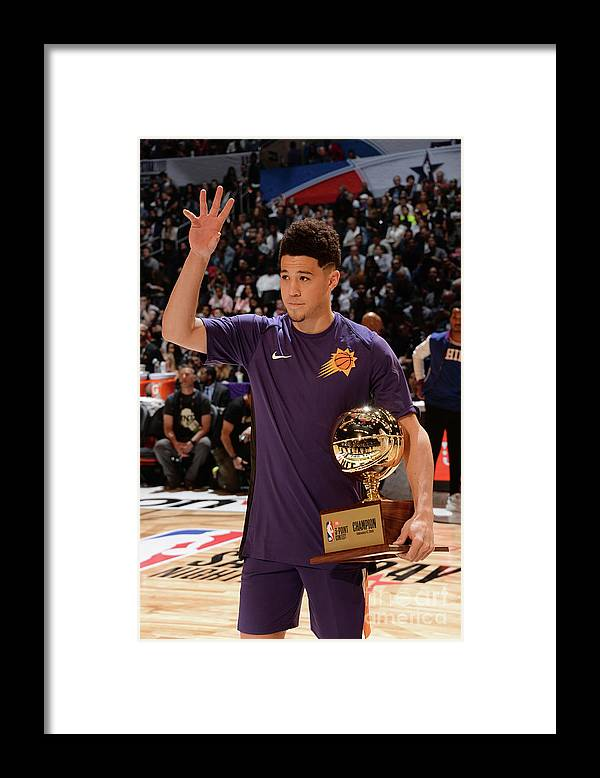 Event Framed Print featuring the photograph Devin Booker by Andrew D. Bernstein