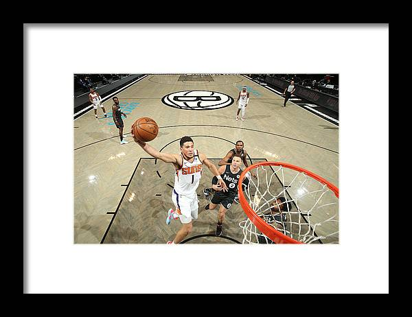 Nba Pro Basketball Framed Print featuring the photograph Devin Booker by Nathaniel S. Butler