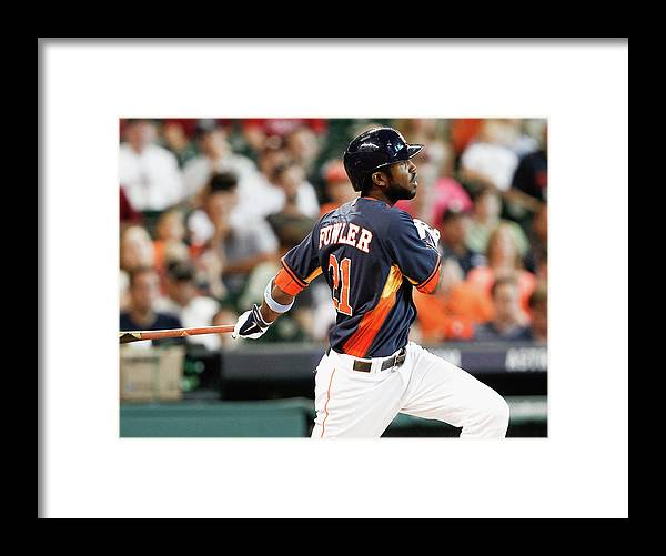 American League Baseball Framed Print featuring the photograph Dexter Fowler by Bob Levey