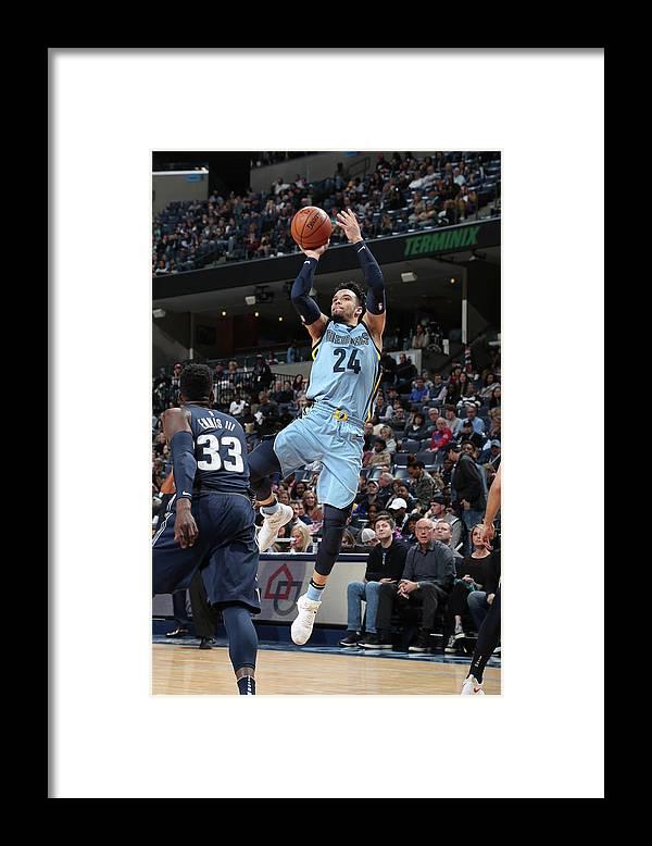 Sports Ball Framed Print featuring the photograph Dillon Brooks by Joe Murphy