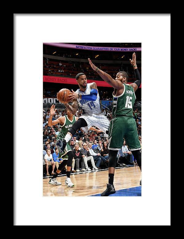 Nba Pro Basketball Framed Print featuring the photograph D.j. Augustin by Fernando Medina