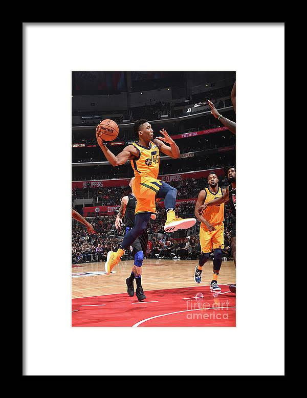 Nba Pro Basketball Framed Print featuring the photograph Donovan Mitchell by Andrew D. Bernstein