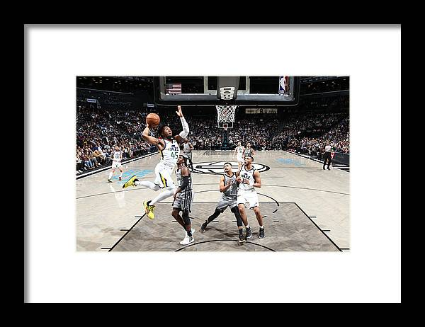 Nba Pro Basketball Framed Print featuring the photograph Donovan Mitchell by Nathaniel S. Butler