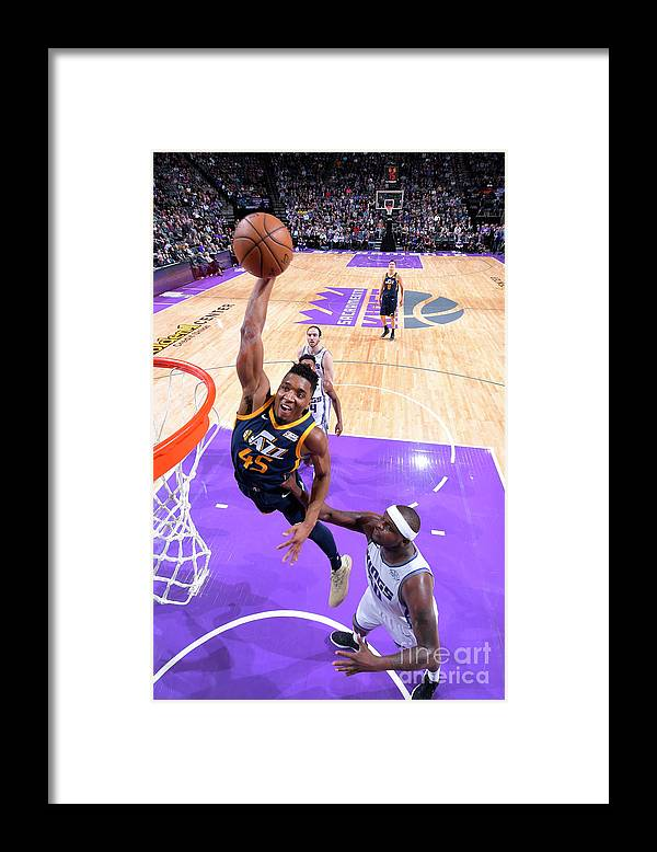 Nba Pro Basketball Framed Print featuring the photograph Donovan Mitchell by Rocky Widner