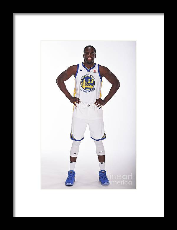 Media Day Framed Print featuring the photograph Draymond Green by Noah Graham