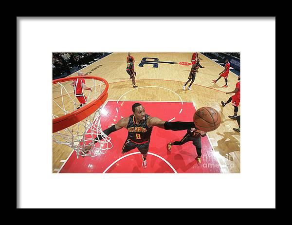 Nba Pro Basketball Framed Print featuring the photograph Dwight Howard by Ned Dishman