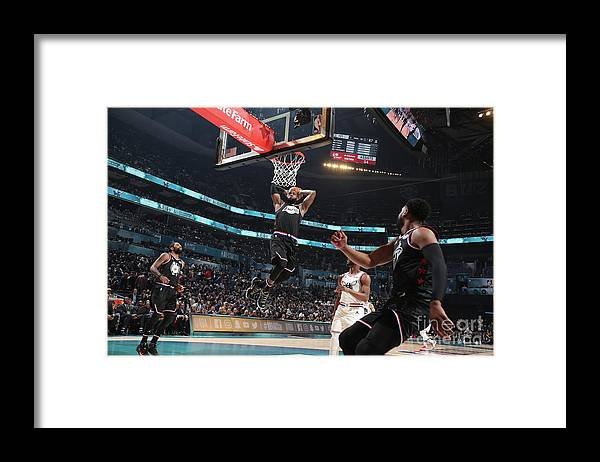 Nba Pro Basketball Framed Print featuring the photograph Dwyane Wade and Lebron James by Nathaniel S. Butler