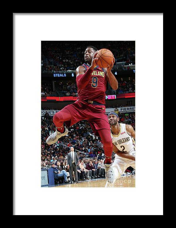 Smoothie King Center Framed Print featuring the photograph Dwyane Wade by Layne Murdoch