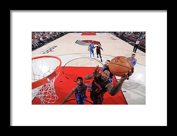 Nba Pro Basketball Framed Print featuring the photograph Ed Davis by Sam Forencich